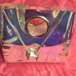 Handbags - Iredescent ring tote bag